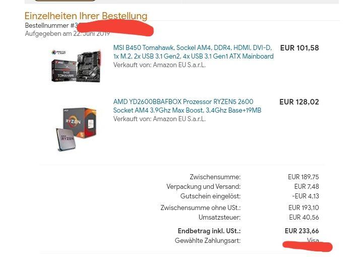 Ryzen 5 2600 + Tomahawk B450 Amazon Alemania - chollometro com
