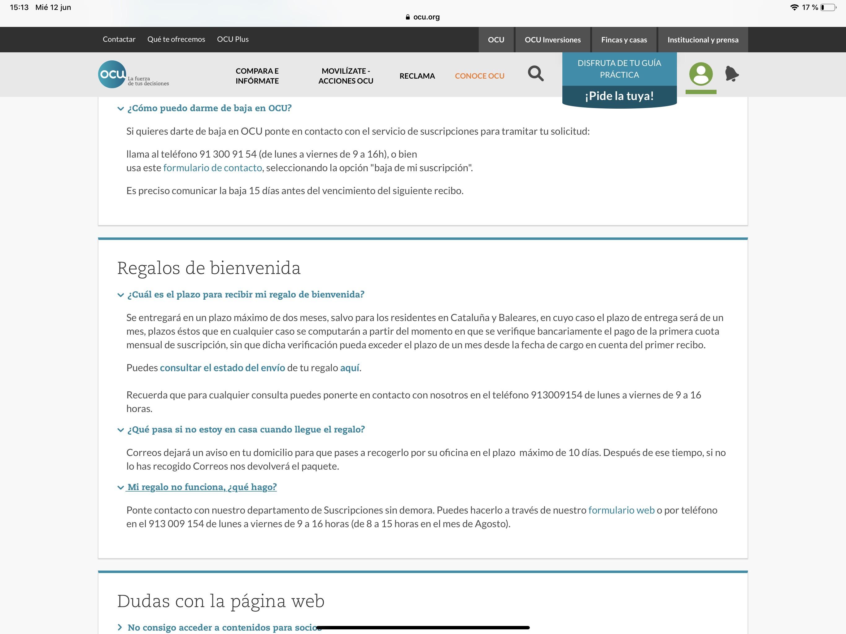 c849d8c2d Cheque Amazon de 30€ Gratis al suscribirte a la OCU - chollometro.com
