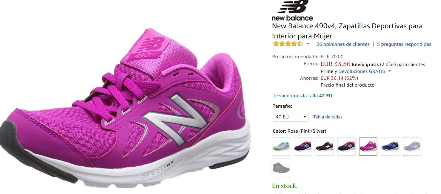 New Balance 490v4, Zapatillas 41 Deportivas para Mujer talla 41 Zapatillas eb5d1f