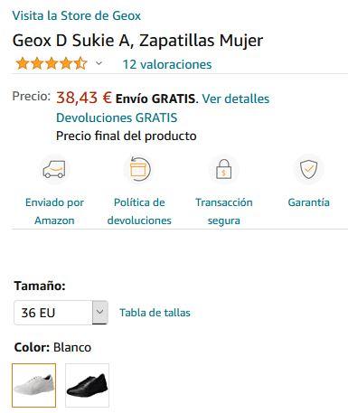 donante esquema fluctuar  Zapatillas deportivas de mujer GEOX. Talla 39 » Chollometro