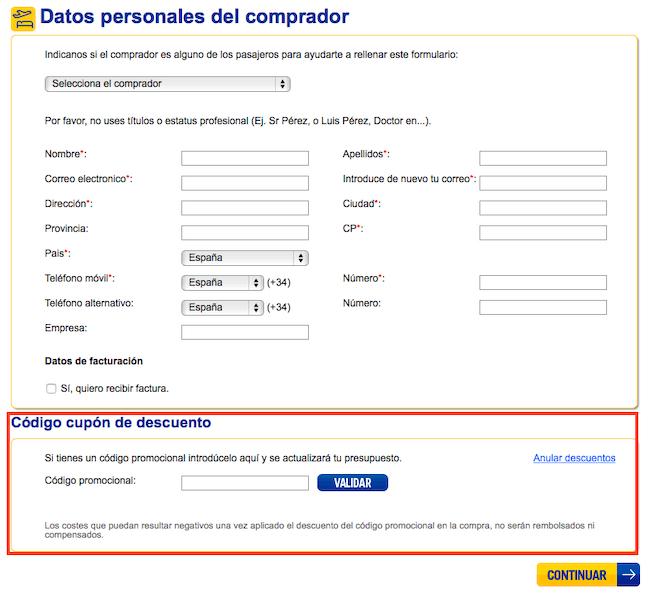 eDreams_Chollometro_canjear_cupones_descuento_edreams