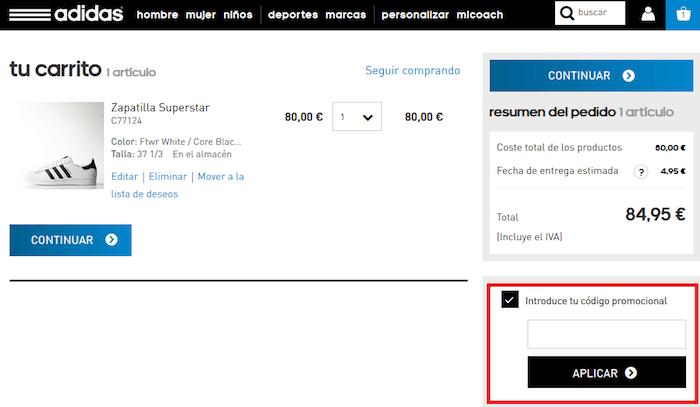 5588df4a21514 Adidas Chollometro canjear codigo promocional descuento adidas