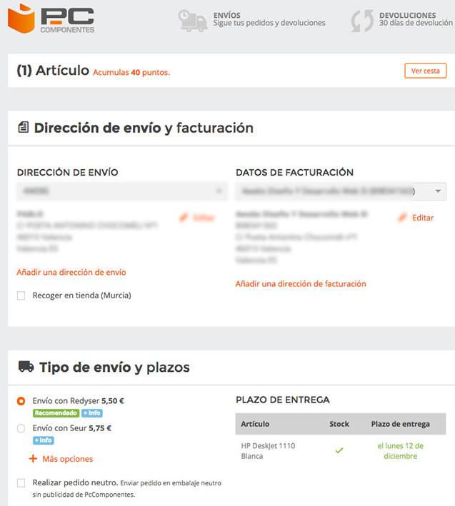 PcComponentes_tramitacion pedido compra online