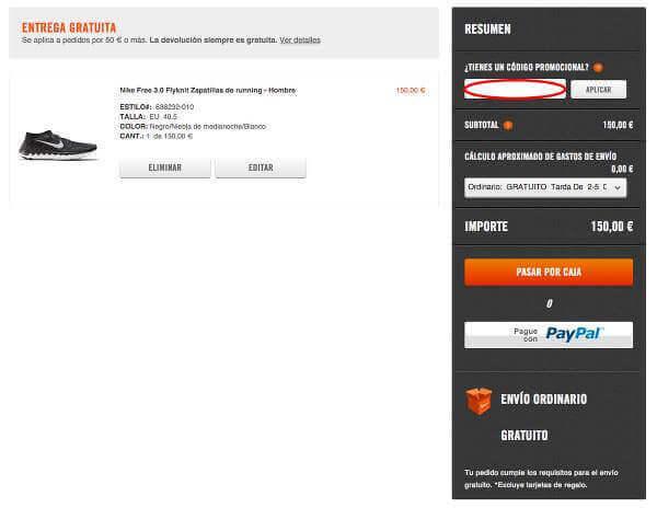 Nike_Chollometro_canjear_cupones_descuento_tienda_nike