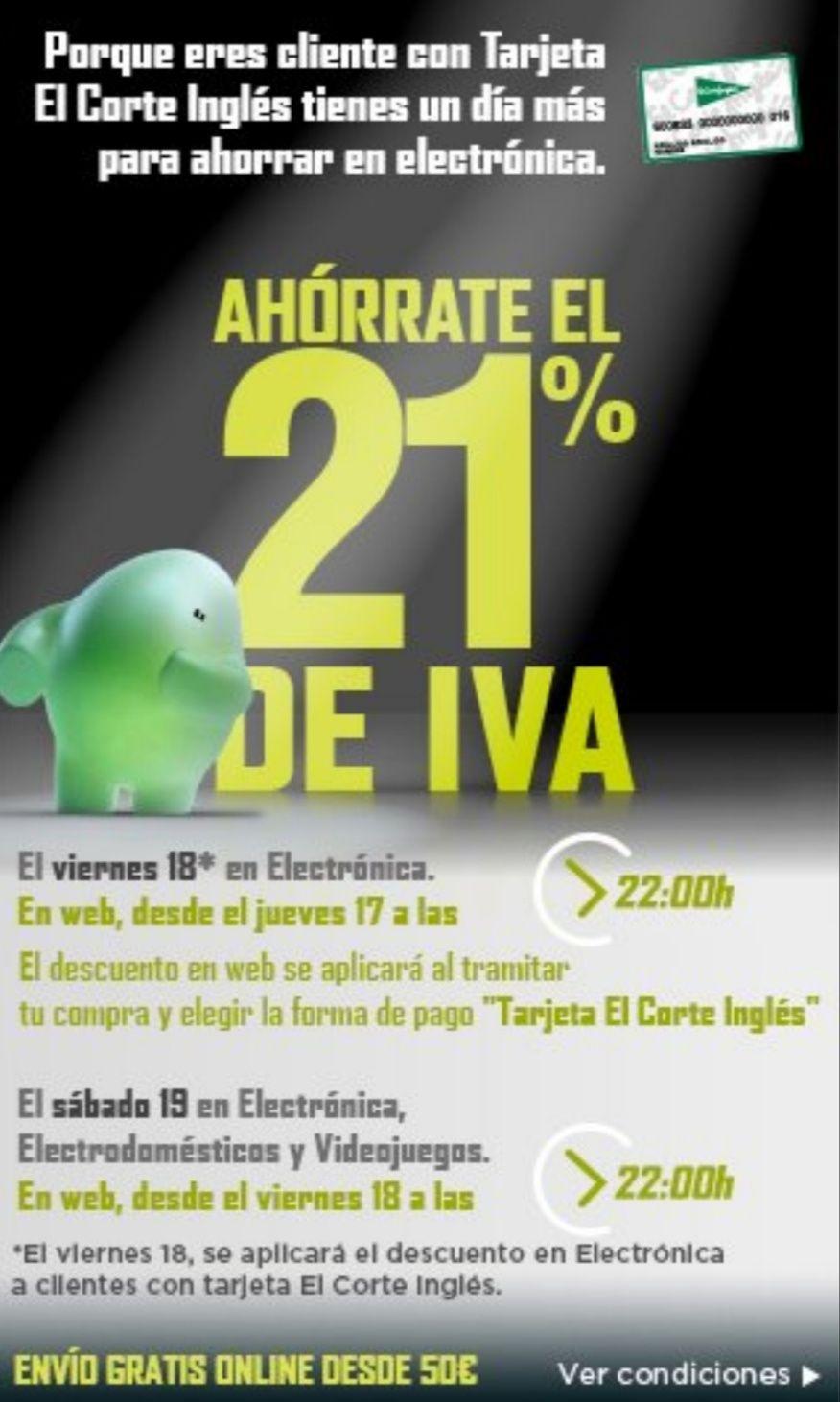 57c284c343f8 Día sin IVA en El Corte Inglés - chollometro.com