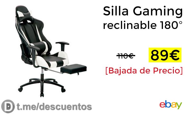 Reclinable 89€ Silla 180º Gaming Solo SUVzqpMGjL