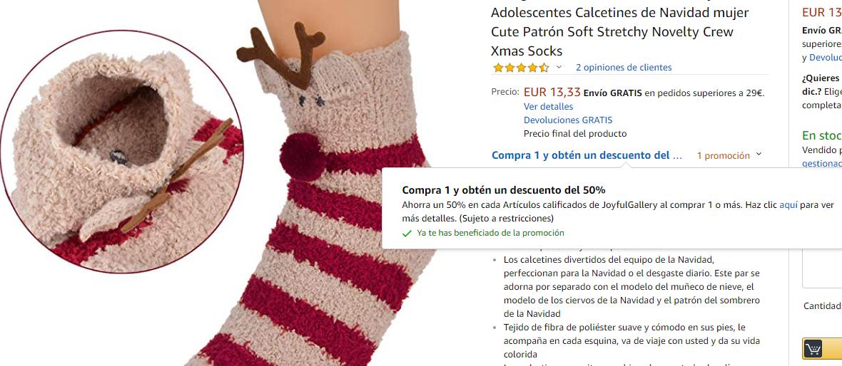 3 Pares de calcetines navideños de Mujer - chollometro.com
