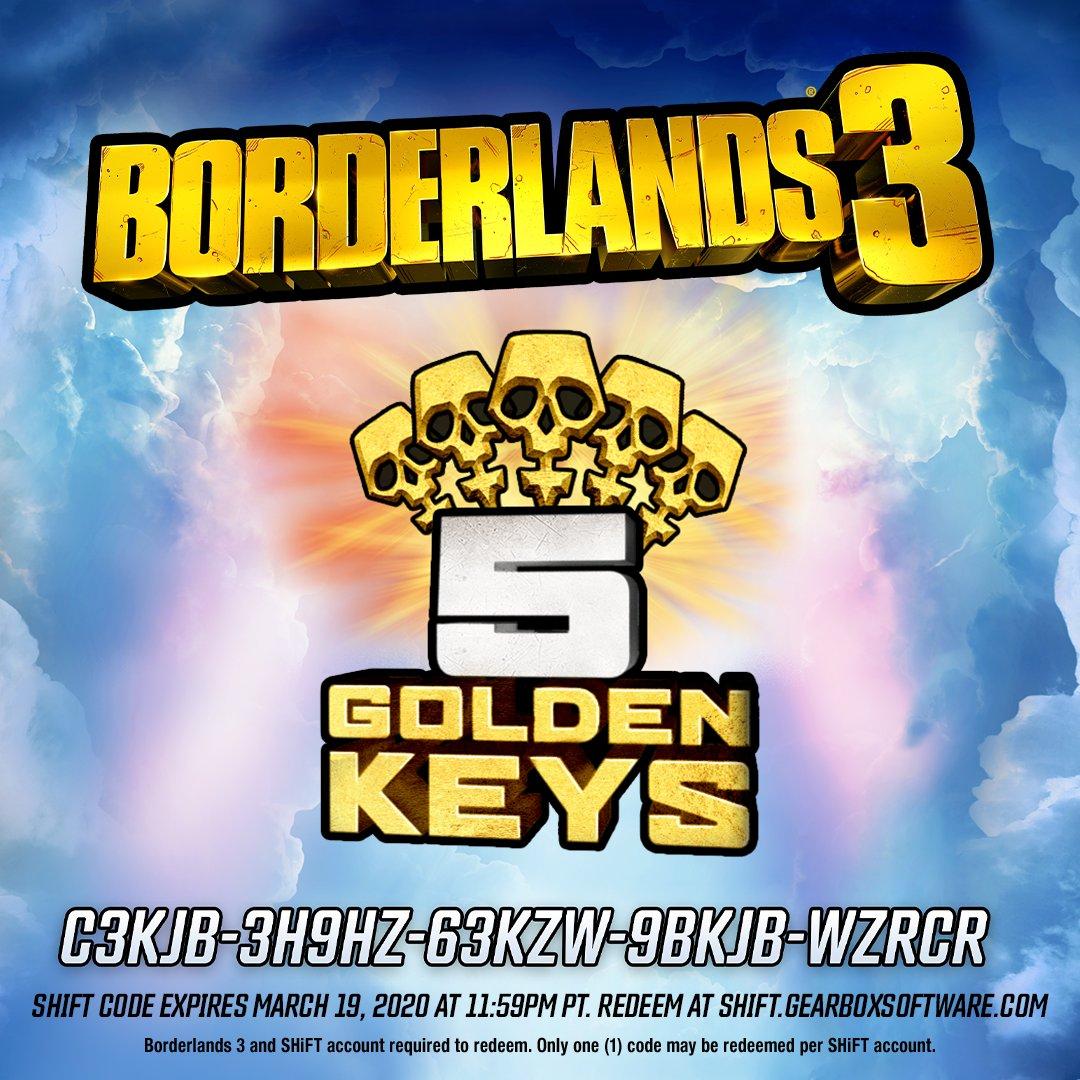 Borderlands 3 :: Gratis Cinco llaves de oro