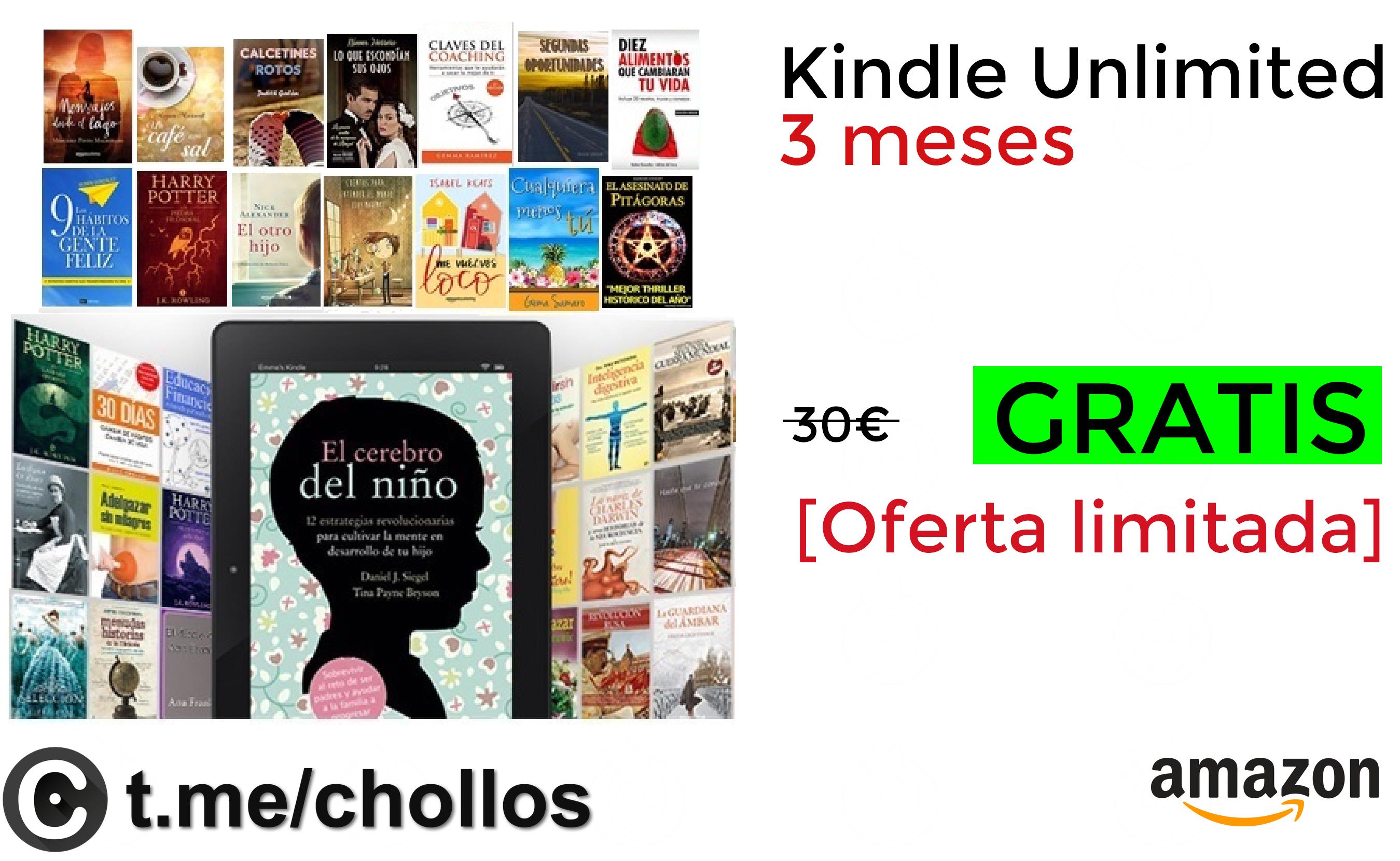 Kindle Unlimited 3 meses GRATIS