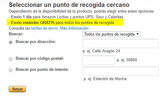 Envío GRATIS en Amazon sin ser Prime (Puntos de recogida)