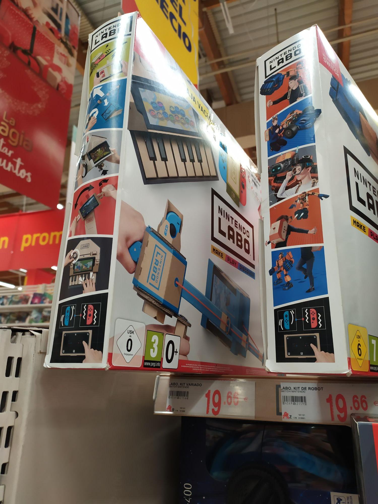 Nintendo Switch Labo (3) a menos de 20€