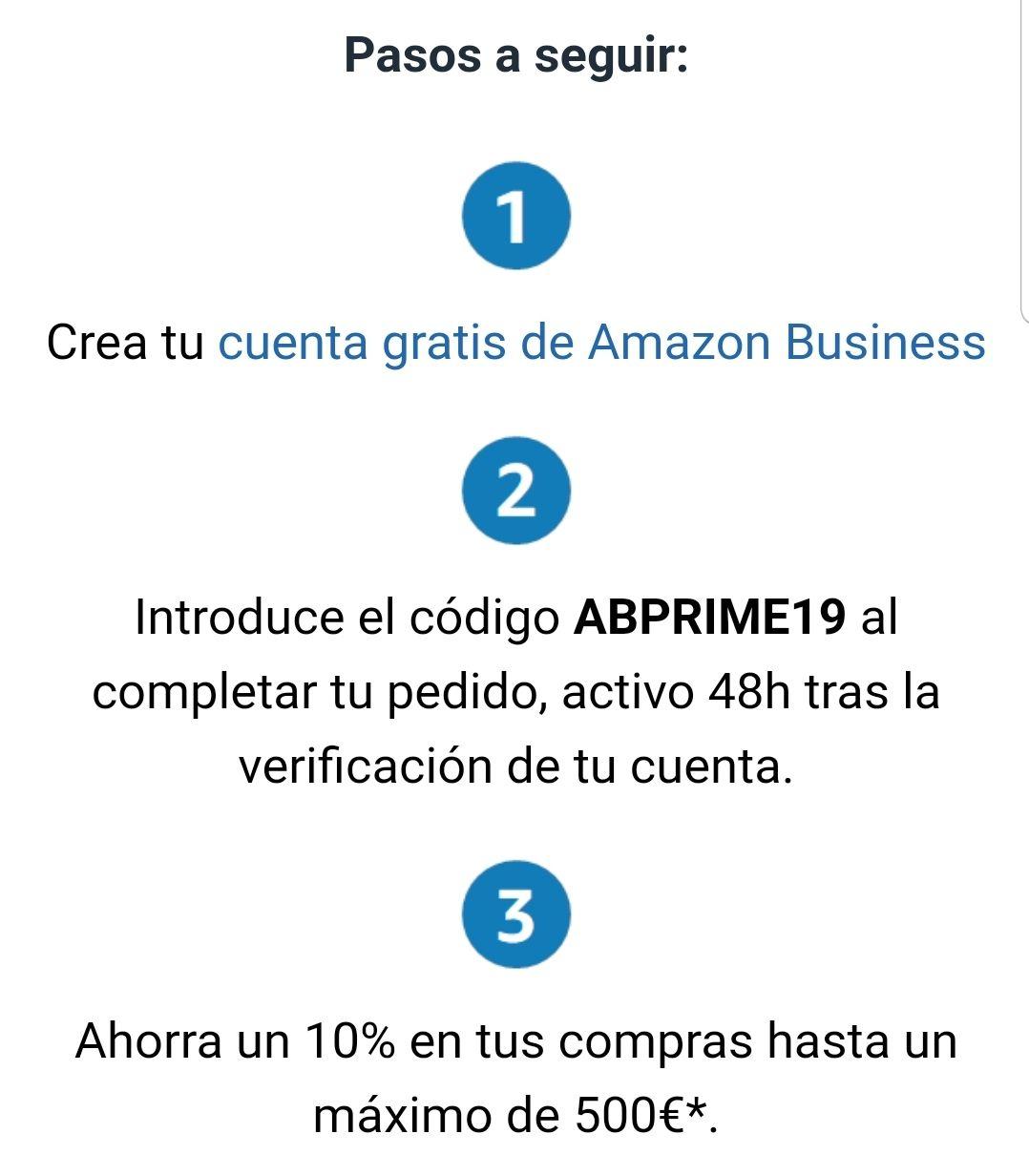 Oferta de Prime Day para Empresas: 10% hasta un máximo de 500€. (Solo nuevos usuarios Amazon Business)