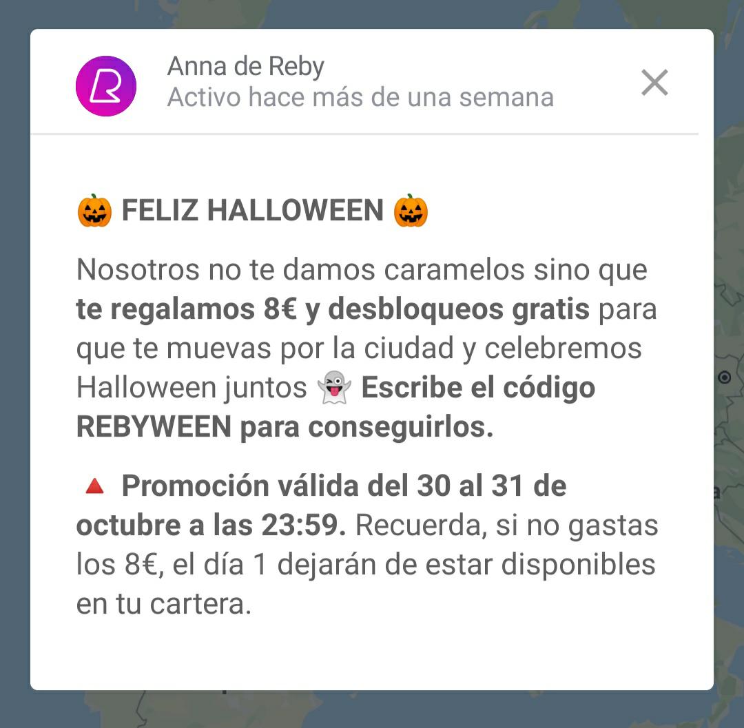 8€ gratis con REBY