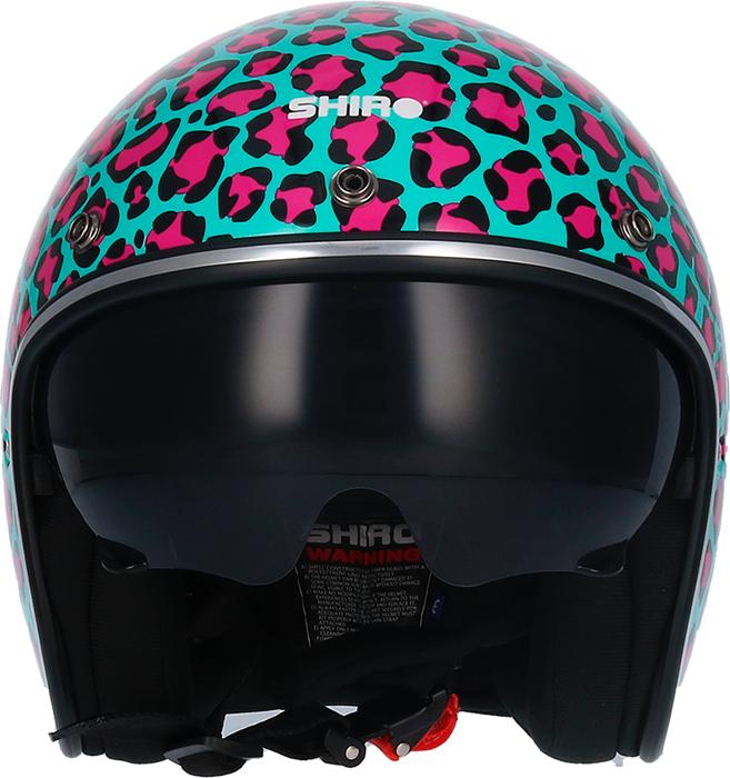 Shox Casco para moto (con visera elevable)