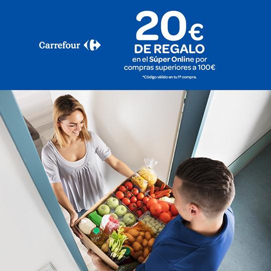 20€ de regalo en tu primera compra online de +100€ en Carrefour