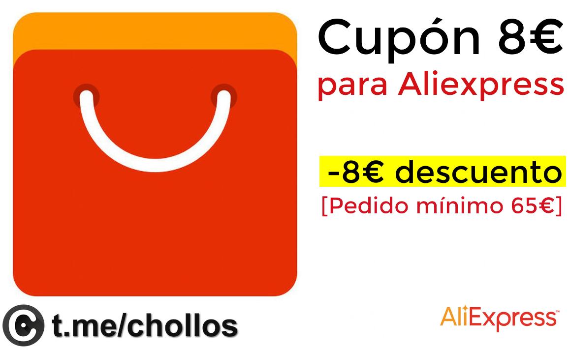 Cupón 8€ para AliExpress (mínimo 65€)