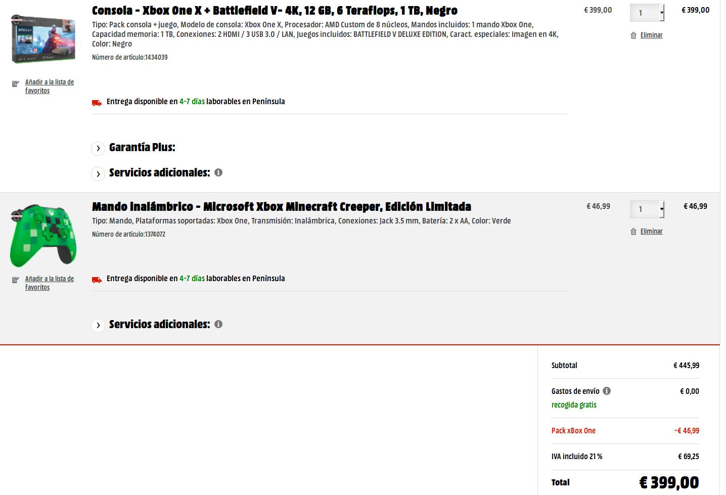 Xbox One X Modelo Negro 3 Juegos Chollometro Com