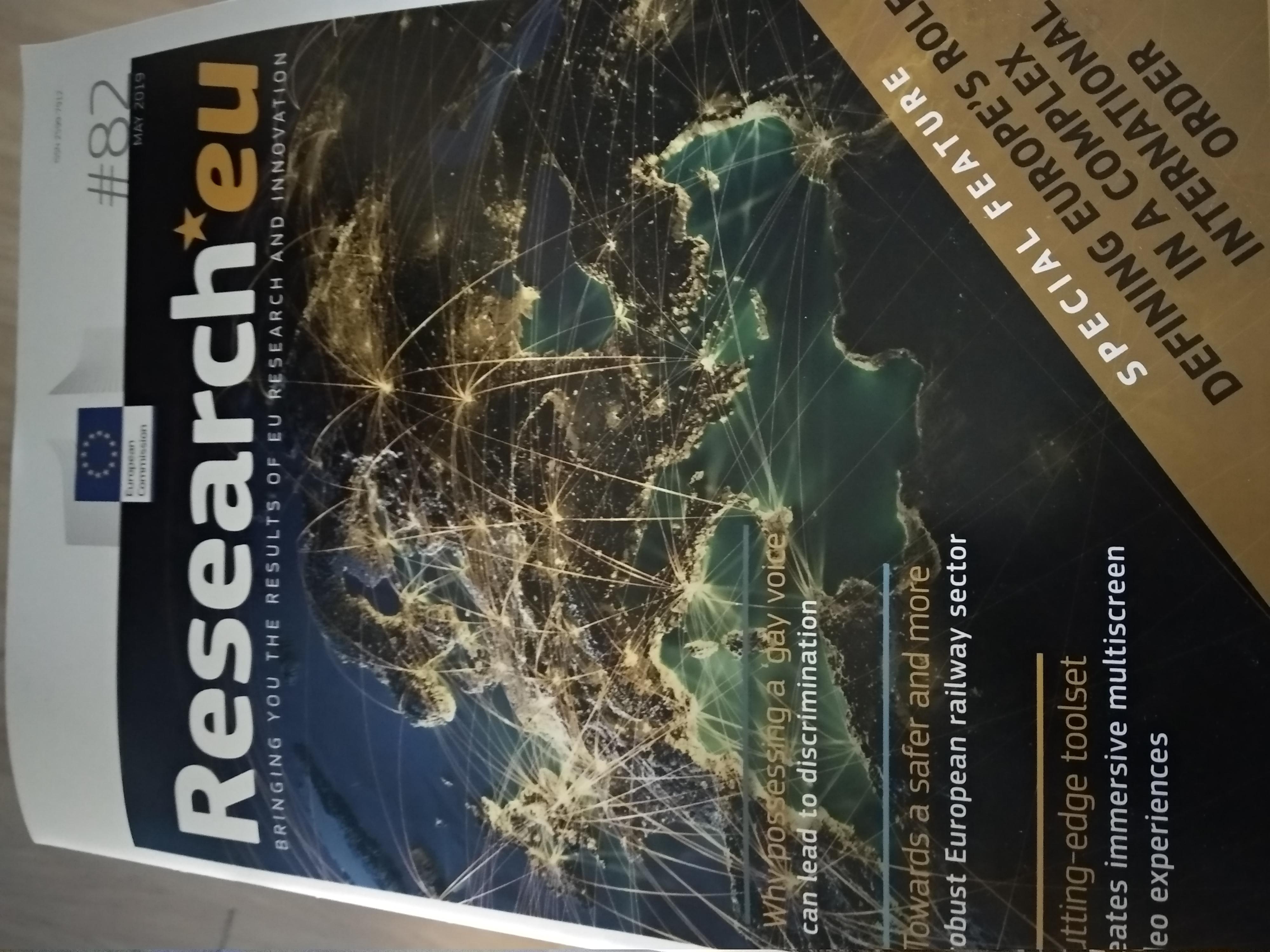 Revista reseach EU mayo 2019 idioma inglés formato papel gratuita y también pdf