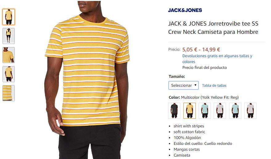 JACK /& JONES Jorretrovibe tee SS Crew Neck Camiseta para Hombre