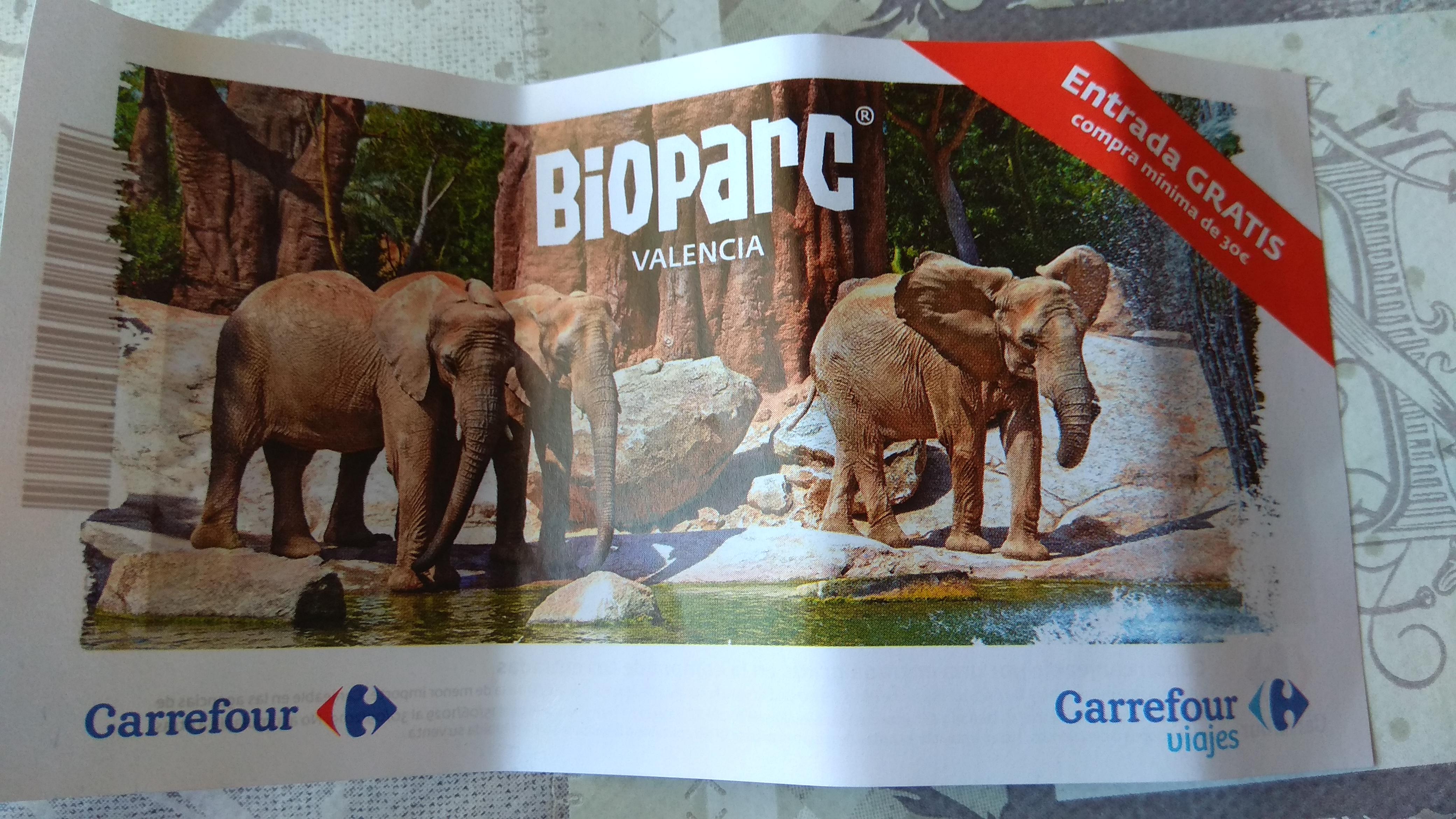 Bioparc Valencia entrada gratis compra minima de 30 euros.