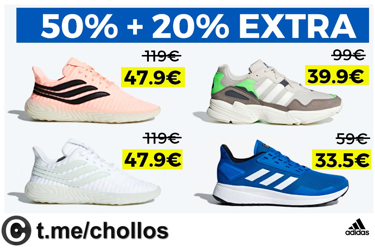 Cupón descuento Adidas: ofertas del 50% + 20% EXTRA en la