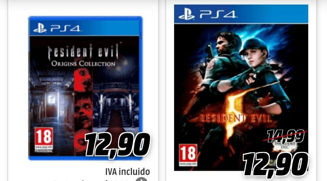 Oferta Juegos saga Resident Evil PS4