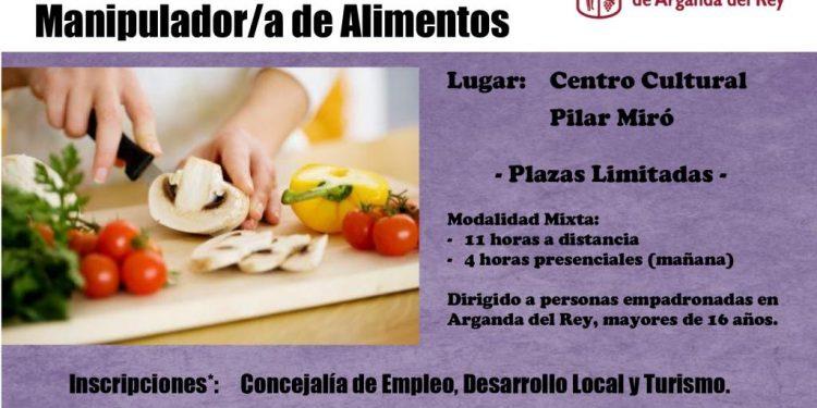 Curso GRATUITO manipulador de alimentos Arganda del Rey Madrid