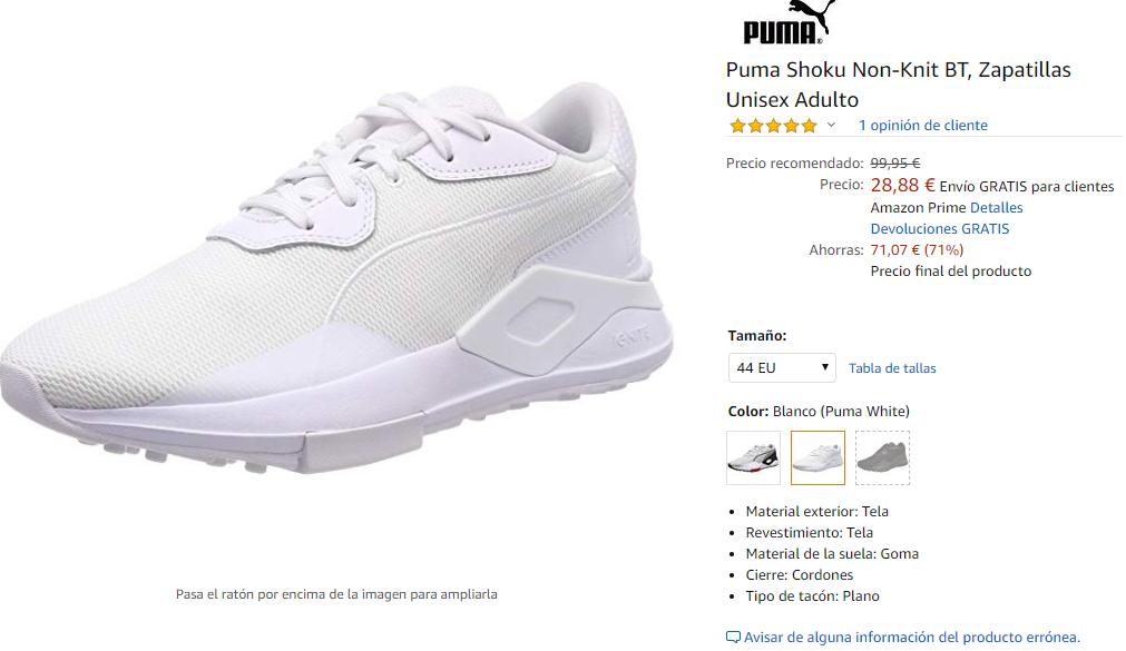 Zapatillas por menos de 35 Euros para pies grandes de entre