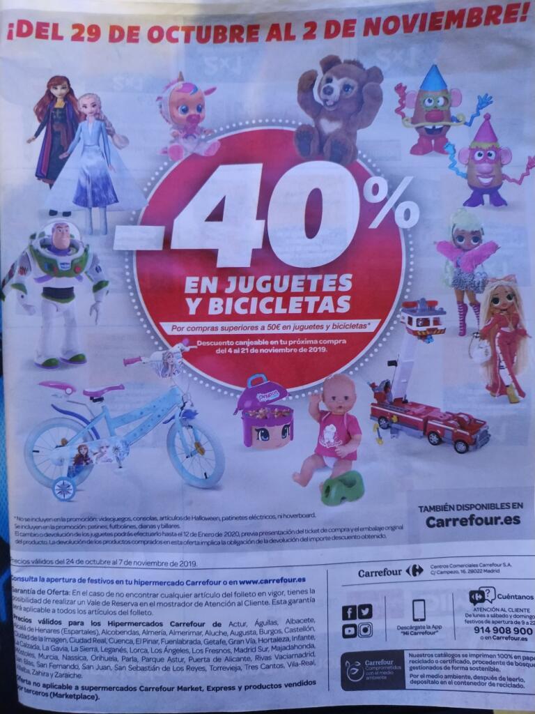 Carrefour Juguetes Ninos 1 Ano.40 En Cheque Por Compra Juguetes Carrefour Chollometro Com