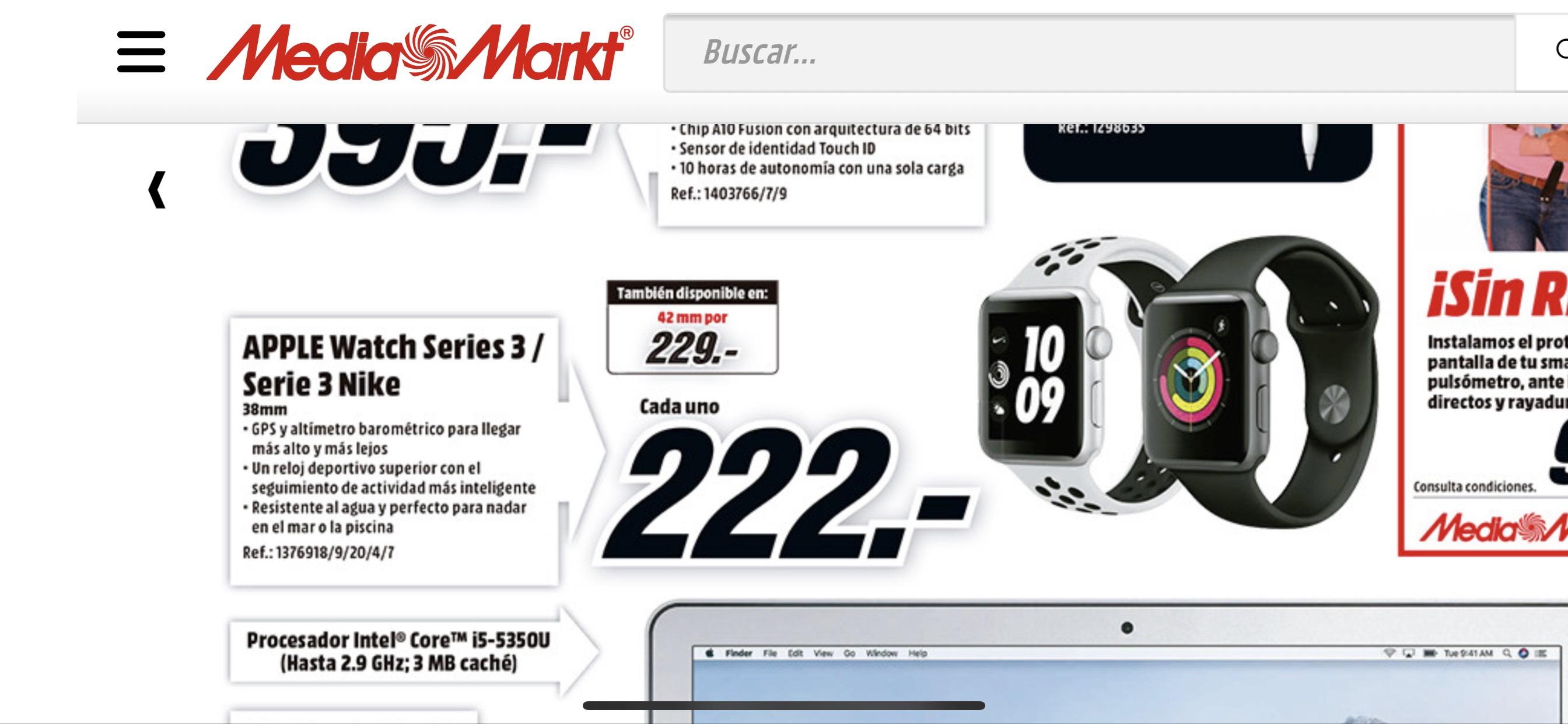 Apple Watch Series 3 [MediaMarkt] - chollometro.com