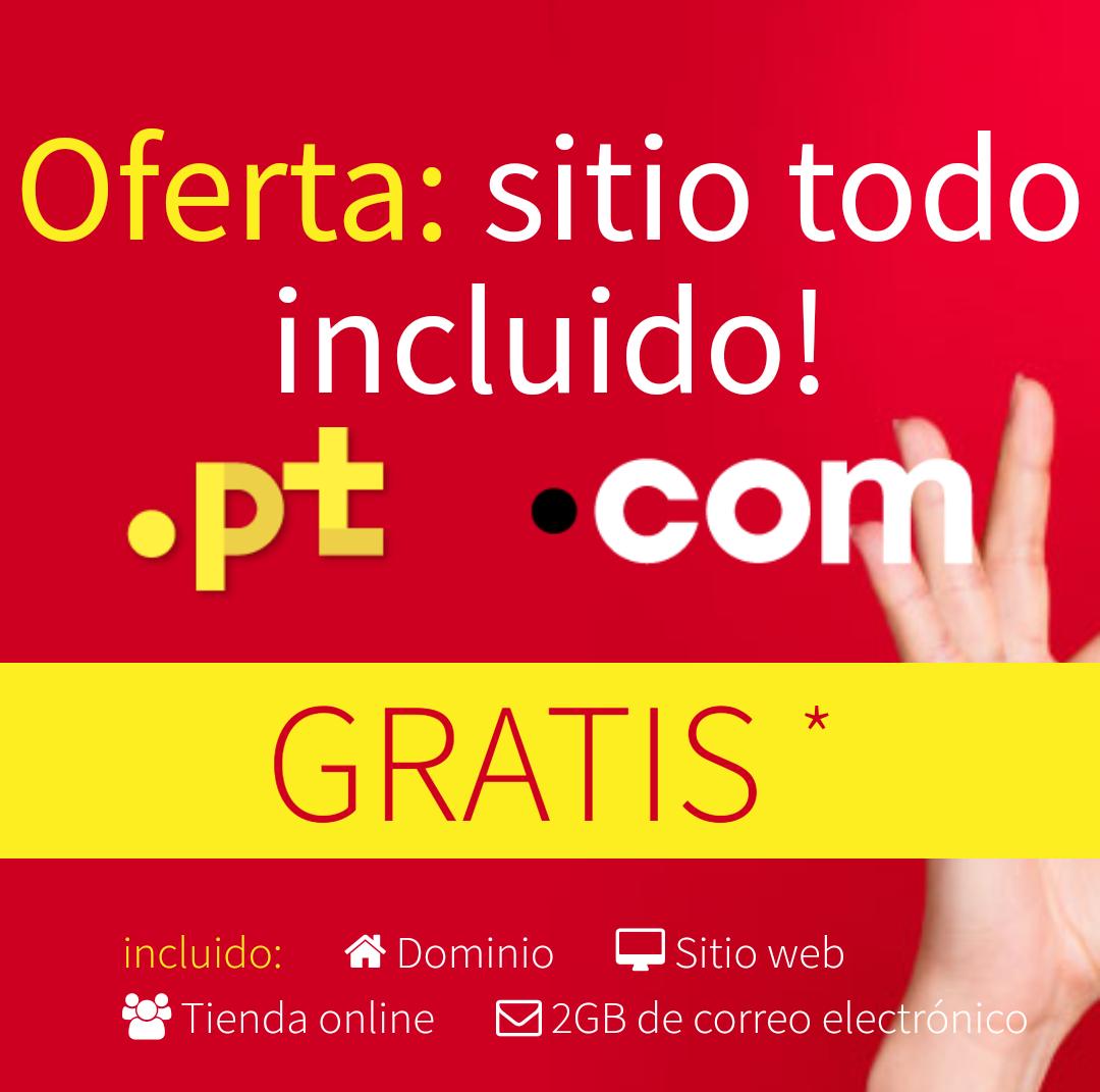 Gratis dominio .com y .pt