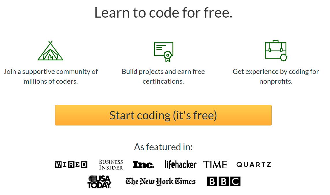 Aprende a programar gratis (Con certificados, Inglés)