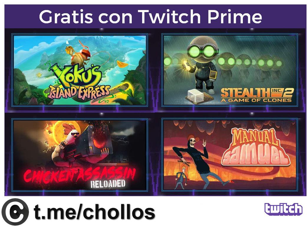4 juegos gratis con Twitch Prime - chollometro com