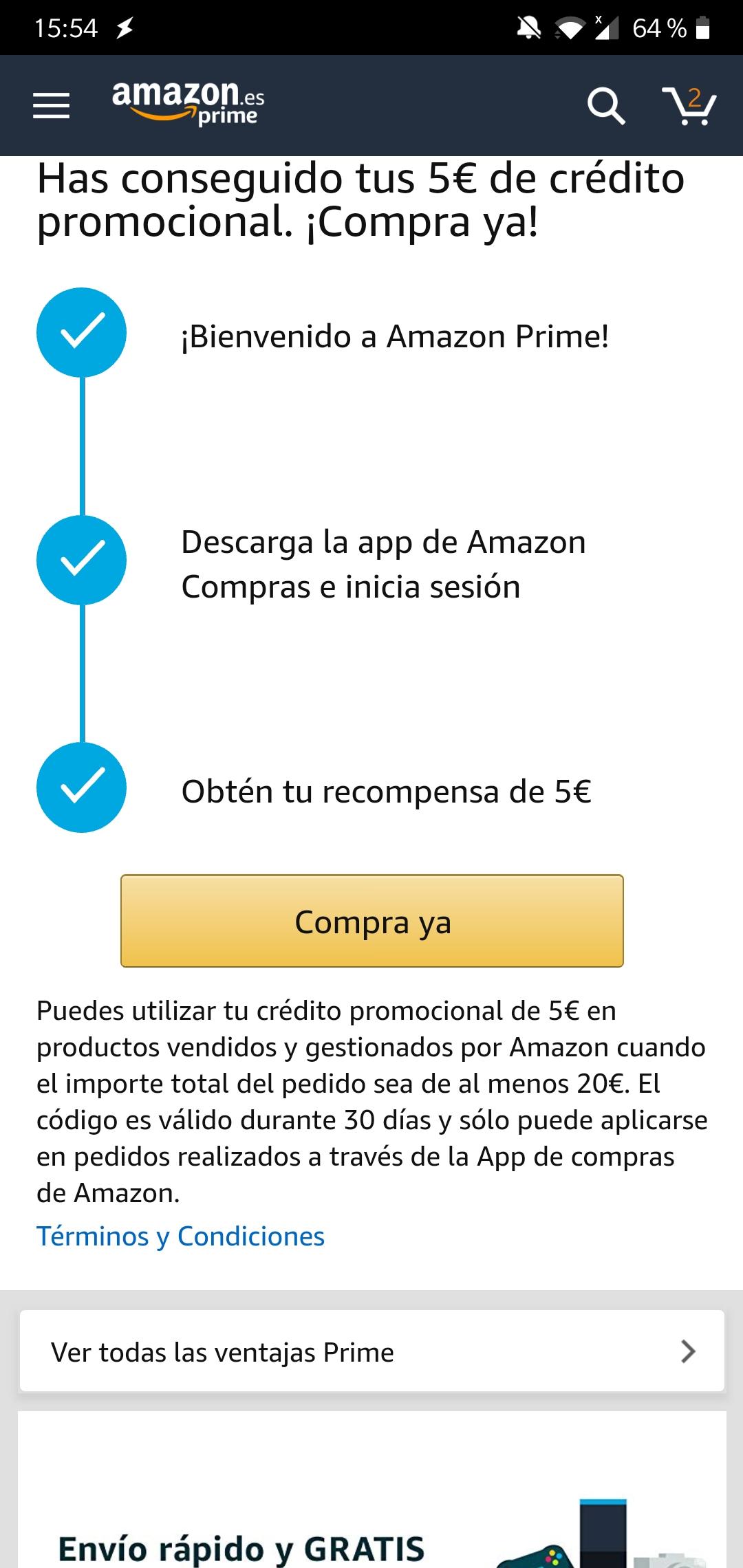5€ en Amazon al descargar la app (solo seleccionados) (precio: €)