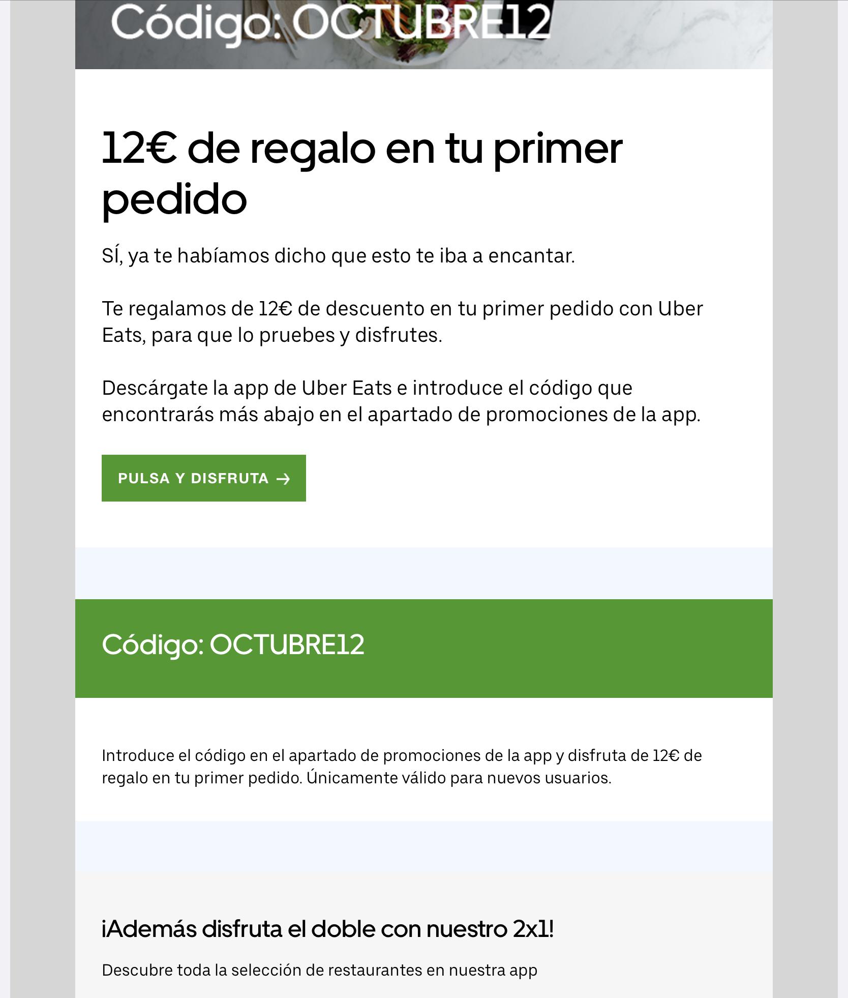 12€ DESCUENTO TU PRIMER PEDIDO (CUENTAS SELECCIONADAS)