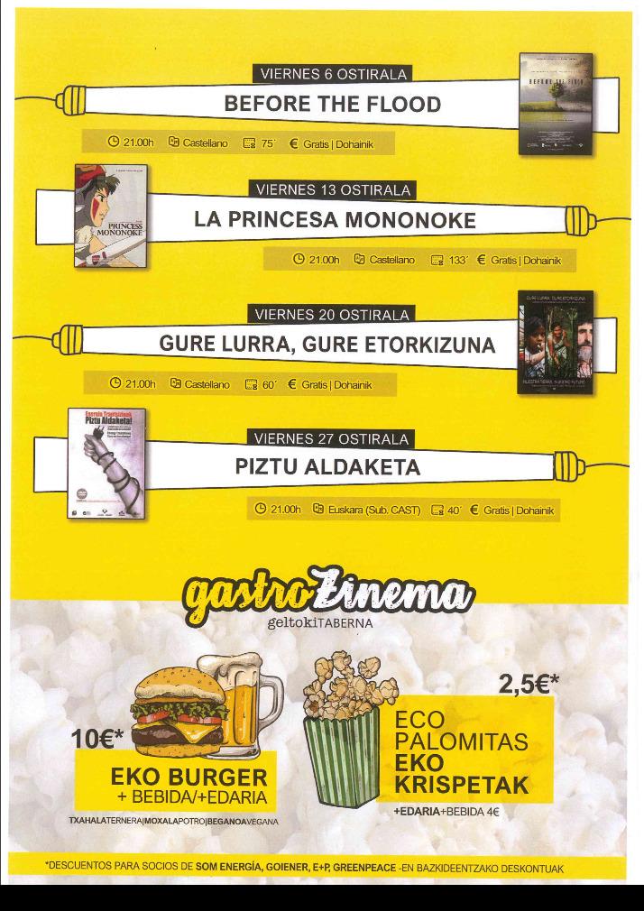 Cine Gratis en Pamplona. Ciclo enerzinema