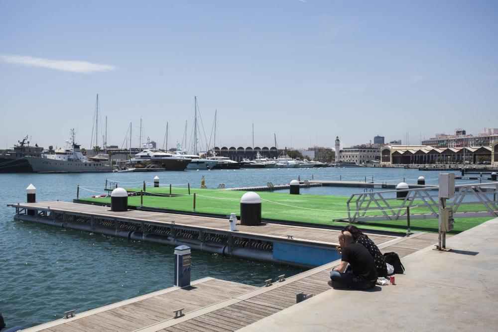 Valencia: Piscina natural de entrada gratuita en La Marina de Valencia para este verano