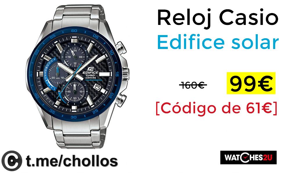 2ef0a26dc3f0 Reloj Casio Edifice solar solo 99€ - chollometro.com