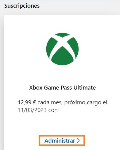 Fecha final conseguida con la conversión a Xbox Game Pass Ultimate