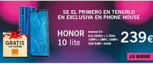 Ofertas Móviles ThePhoneHouse y Honor 10 Lite 4Gb/64gb en exclusiva