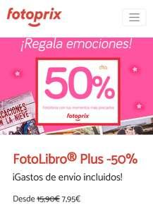 Fotolibro Plus de Fotoprix al 50%