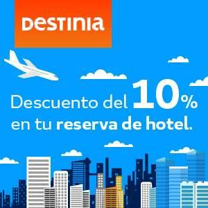 10% de descuento en tu hotel en Destinia