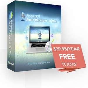 Apowersoft Audio Recorder for Mac, licencia gratis para  1 año