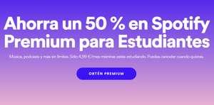 Spotify Premium  50% para universitarios.