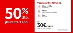 Oferta Vodafone One -> 1 año al 50%