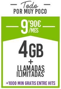 Minutos ilimitados con 4 GB en hits mobile y tienes todo el uso móvil cubierto