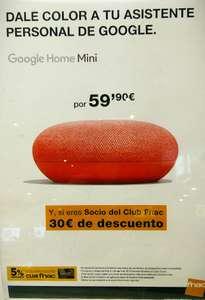MÍNIMO HISTÓRICO Google Home mini color coral + 3 meses Deezer GRATIS -Solo Socios-