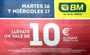 Vale 10€ en Supermercados BM Bizkaia