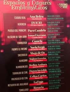 CIUDAD REAL: Ana Belén, Ismael Serrano, Mago de Oz, Mojinos, Medina Azahara, Danza Invisible, Celtas Cortos, La Fuga, Rosario, etc. (GRATIS)