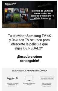 Tu televisor Samsung TV 4K y Rakuten TV se unen para ofrecerte la película que elijas DE REGALO